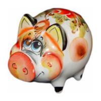 Свинка цветная 12 см. арт.2518