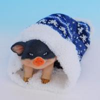 SM-34011 Свинья в шапке, 10*20.5*8см, полистоун