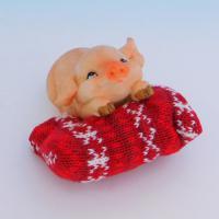 SM-34012 Свинья на подушке, 9*11.5*7см, полистоун