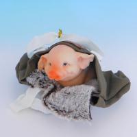 SM-34014 Свинья в сумке, 17*15.5*11.5см, полистоун