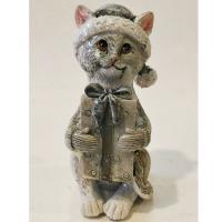 KEN78354  Кошка с подарком 5*4*9 см