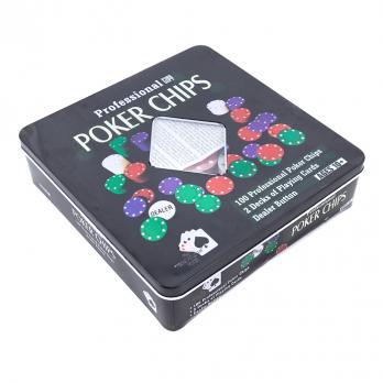 К6125 Набор для покера 100 фишек+ 2 колоды карт