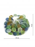 К5939 Камушки декоративные , стекло 300гр. 1,5 см