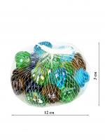К5941 Камушки декоративные, стекло 300 гр.2,5 см