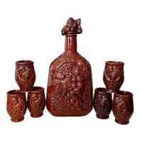Винный набор Виноградная лоза №1 (7 предм) глазурь