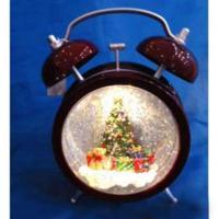 MML15316 Будильник с елью в шаре 12*20 см