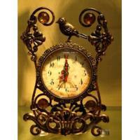 MML15995 Часы метал. бронз.с птичкой  17*5.5*25см