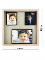 К5983-1 Фотоколлаж 26,5*26,5*3,5 см