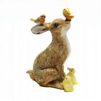 KEN78754 (2) Кролик с птичками 10*5.5*13см