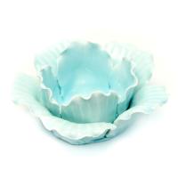 WY-2 Цветок-подсвечник фарфор 12*12*5 см