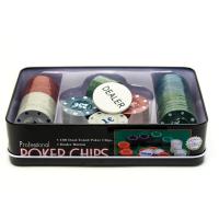 К8091 Набор для игры в покер 100 фишек 20*12*5 см