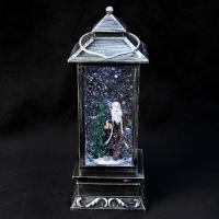 К8112 Новогодний светильник фонарь (батарейки ) 30 см