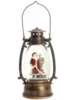 К8117 Новогодний светильник фонарь (USB, музыка ) 25 см