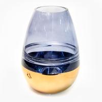К8360-1 Ваза синее стекло 24*18*18 см