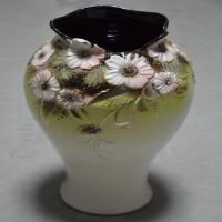 ваза настольная омбре ч/б