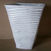 ваза напольная квадрат белый