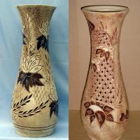 ваза напольная осень шамот резка