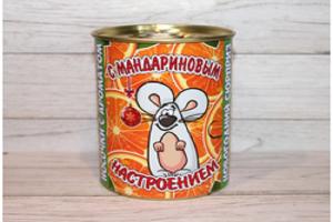 Носки в банке (нг) с ароматом мандарина «Настроение» 9,5х7,8 см. (женские)