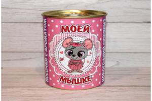 Носки в банке (нг) с ароматом ванили «Мышке» 9,5х7,8 см. (женские)
