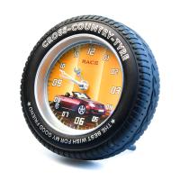 К8568 Часы-будильник Колесо кварц 12,5*12,5 см