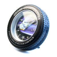 К8569 Часы-будильник Колесо 17,6*17,6 см кварц