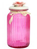 К8608-5 Банка для сыпучих продуктов 22*11*11см (стекло+керамика)