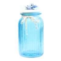 К8608-6 Банка для сыпучих продуктов 22*12*12см (стекло+керамика)