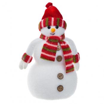 MML15761 (6) Снеговик с шарфом 14*22см, пенопласт
