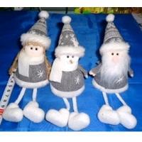 MML16005 (12) Снеговик,  Санта, Снегурочка с ножками 11 см