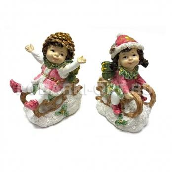 PLA17649  Новогодний ребенок-эльф 9.9*7.9*12см