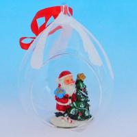 HY-15715 (24) Стеклянный шар в виде капли, с лентой 8*13cм