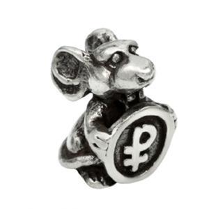 30075 Мышь кошельк.с монетой олово