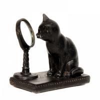 JNW 6414 (4) кошка с зеркалом 9*5,5*9см