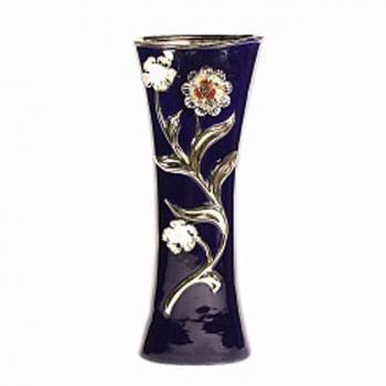 VBС 104 ваза синяя с золотом 35,5см