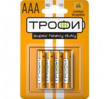 Бат.ТРОФИ R03-4BL блистер (40)