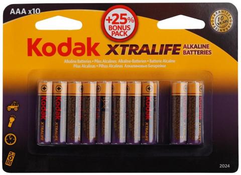 Бат.KODAK МAX LR03-8+2BL XTRALIFE (120)