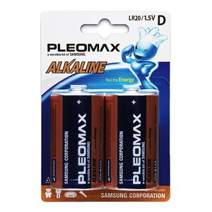 Бат.SAMSUNG Pleomax LR20-2BL (20)