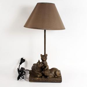 + JNW 6479 лампа с кошками 24,5*24,5см