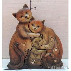+ KEN 78057 набор из 3 кошек 13,5*4*14,5см