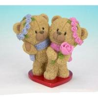 PLA 17417 медвежата на сердце 9,3*5,7*8,5см