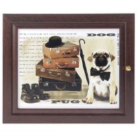 Ключница Собаки  (венге) в ассортименте 19*24 см