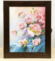 Ключница Цветы (орех) в ассортименте 24*36 см