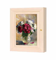 Ключница Цветы (дуб молочный) в ассортименте 26*31 см