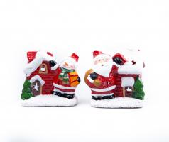 К9245 Фигурка новогодня с светом (дед мороз, снеговик) 9 см керамика