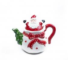 К9251 Чайник заварочный Новогодний ( керамика) 17 см 600 мл