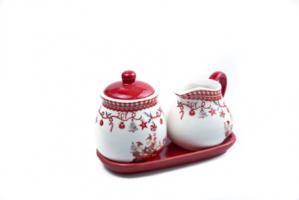 К9256 Столовый новогодний набор (керамика ) 17*12 см