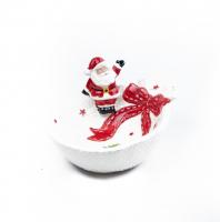 К9258 Конфетница новогодняя ( керамика) 21*12 см