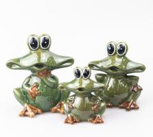 К9032 Семья Лягушек (набор 3 шт) керамика