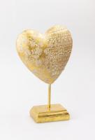 К8895 Изделие декоративное Сердце на подставке 15*23 см