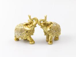 К8901 Слон декоративный 9*11 см (полистоун, 2 вида)